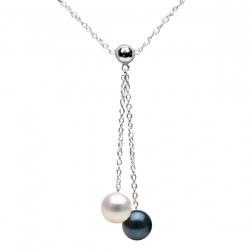Collana 40 cm Argento 925 con Perle di coltura Akoya qualità AAA