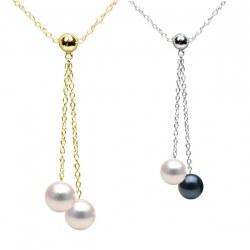 Collana 45 cm Oro 14k con Perle di coltura Akoya qualità AAA