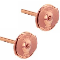 Paio di perni per orecchini, sistema GUARDIAN brevettato in oro rosa 18k 5 mm