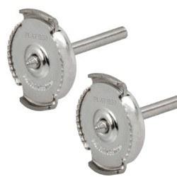 Paio di perni per orecchini, sistema GUARDIAN brevettato in platino 950