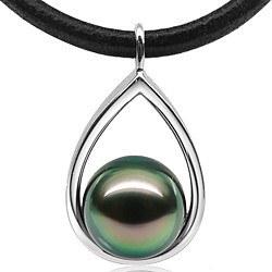 Pendente Argento 925 e Perla di Tahiti 10-11 mm