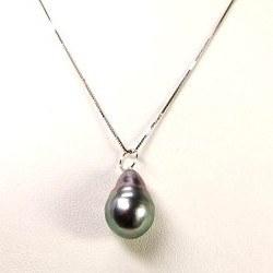 Ciondolo Oro 18k perla barocca di Tahiti da 8 a 9 mm