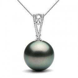 Pendente in oro 9k con perla nera di Tahiti a partire da 9-10 mm
