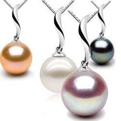 Pendente in oro 18k e perla coltivata d'acqua dolce AAA