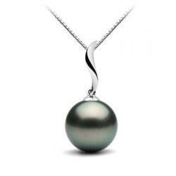 Pendente in argento 925 con perla coltivata di Tahiti