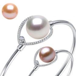 Braccialetto Argento 925 perla d'Acqua Dolce 10-11 mm DOLCEHADAMA