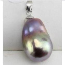 Pendente Argento Perla Soufflé Acqua Dolce 10-13 mm colore metallico