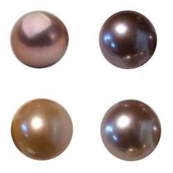 Perle Edison d'acqua dolce semi-forate da 11-12 mm per pendenti