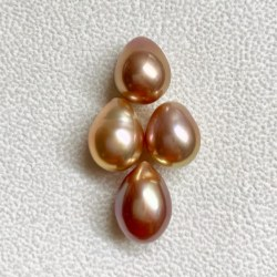 Perle Edison d'acqua dolce semi-forate da 10-11 mm forma a goccia