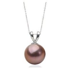 Pendente in Argento 925 con perla d'acqua dolce EDISON 11-12 mm