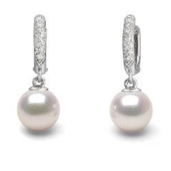 Orecchini in Argento 925 con perle Akoya e diamanti