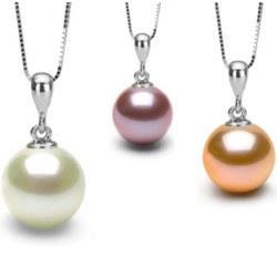 Pendente in Argento 925 e perla coltivata d'acqua dolce DOLCEHADAMA