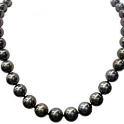 Collana 45 cm di perle di Tahiti rotonde da 10 a 11,5 mm Qualità: AA/AA+