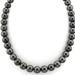 Collana di perle di Tahiti da 8 a 10 mm di qualità AAA Lunghezza 44/45 cm