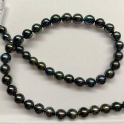 Collana 44 cm perle di Tahiti, da 8 a 9,9 mm da quasi rotonde a rotonde AA/AA+