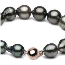 Braccialetto 18 cm di perle barocche di Tahiti da 8,5 à 11 mm