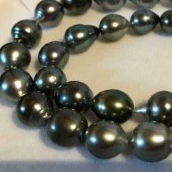 Collana 43 cm di perle di Tahiti da 8,5 a 11 mm Barocche a Goccia
