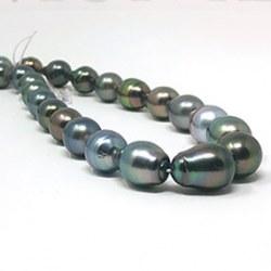 Collana 43/44 cm Perle di Tahiti barocche 8.0-10.9 mm Oro 14k o 18k