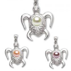 Pendente a forma di tartaruga in Argento 925 con perla d'acqua dolce DOLCEHADAMA