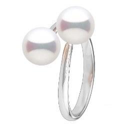 Anello You&Me, argento 925 con 2 perle d'acqua dolce a scelta